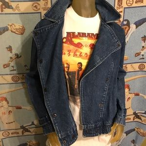Vintage Jackets & Coats - Amazing Vintage Denim Jean Jacket Pop Collar